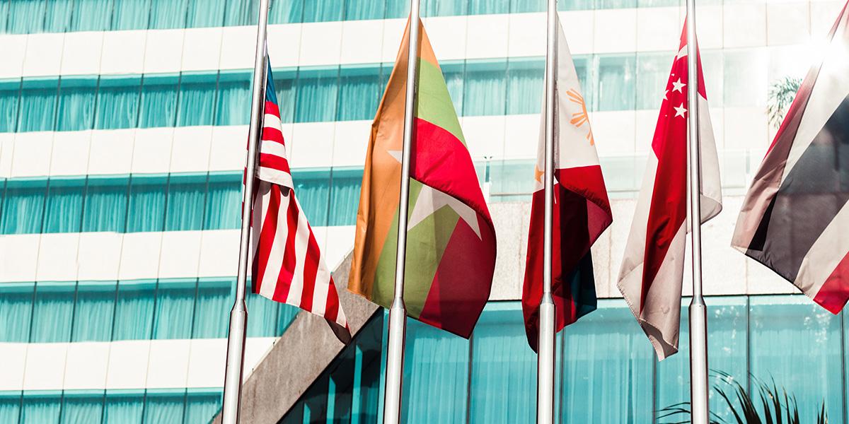 flagi różnych krajów